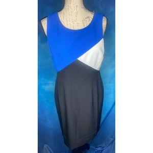 NWT Cabana Blue Color Block Dress by KASPER